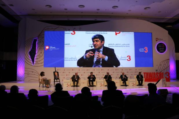 Chief Editor of the Anadolu Agency Metin Mutanoglu at the Palestine Media Forum on 18 November 2018 [Jehan Alfarra/Middle East Monitor]