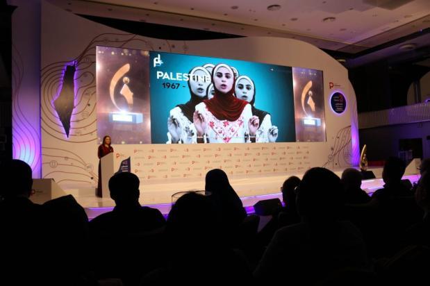 The Creative Media Award at Tawasol 3 in Istanbul, Turkey, on 17 November 2018 [Jehan Alfarra/Middle East Monitor]