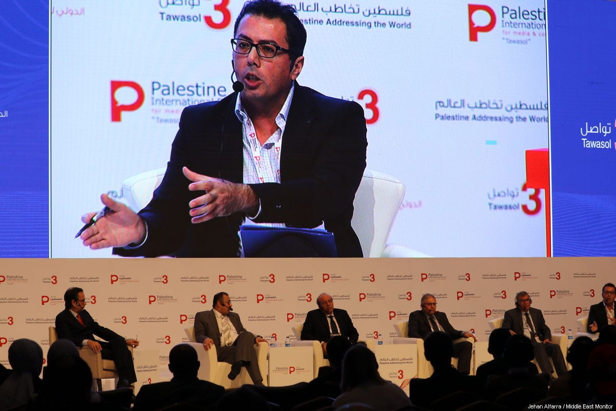 Image from the Palestine Media Forum in Istanbul, Turkey on 18 November 2018 [Jehan Alfarra/Middle East Monitor]