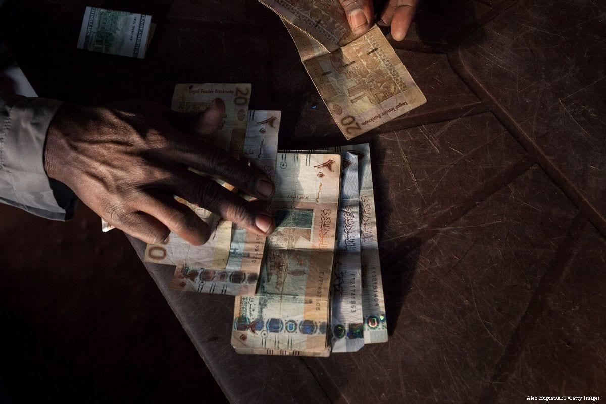 Sudanese bank bills on 20 December 2017 [Alex Huguet/AFP/Getty Images]
