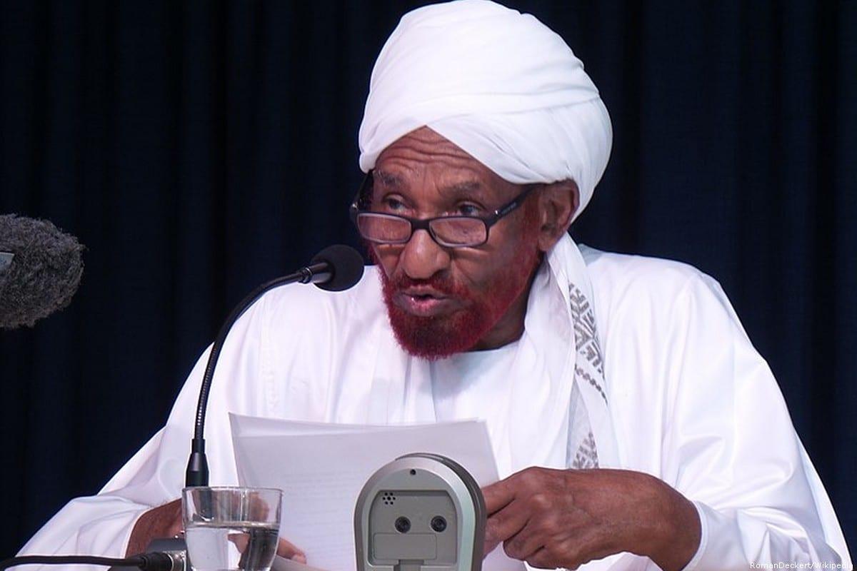 Exiled Sudanese prime minister Sadiq Al Madhi [RomanDeckert/Wikipedia]