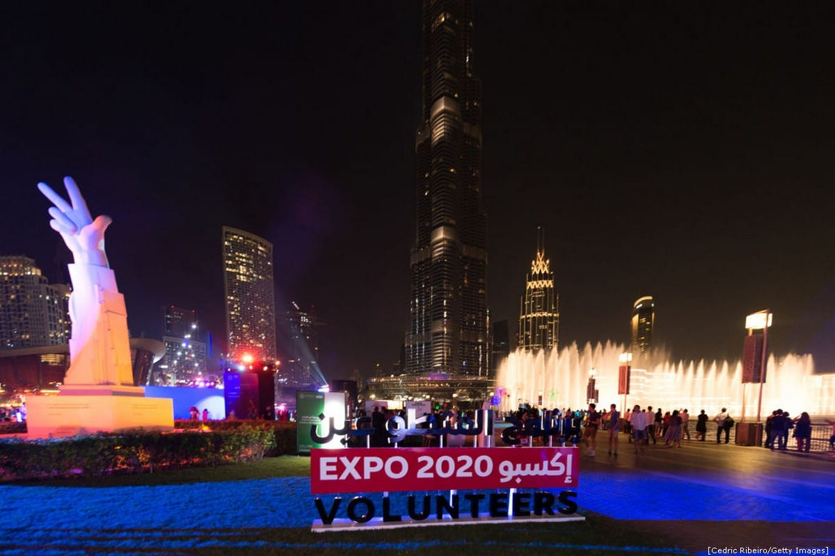 The city was lit up in celebration of the forthcoming event Dubai, 20 October 2018 [Cedric Ribeiro/Getty Images]