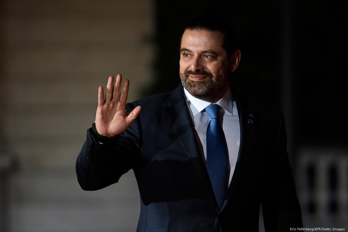 Lebanon's Prime Minister Saad Hariri in Paris, France on 10 November 2018 [Eric Feferberg/AFP/Getty Images]