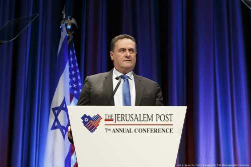 Minister of Transport of Israel Yisrael Katz speaks onstage during the Jerusalem Post New York Annual Conference at the New York Marriott Marquis Hotel on 29 April, 2018 in New York City [noa grayevsky/Getty Images for RSL Management Corpnoa]