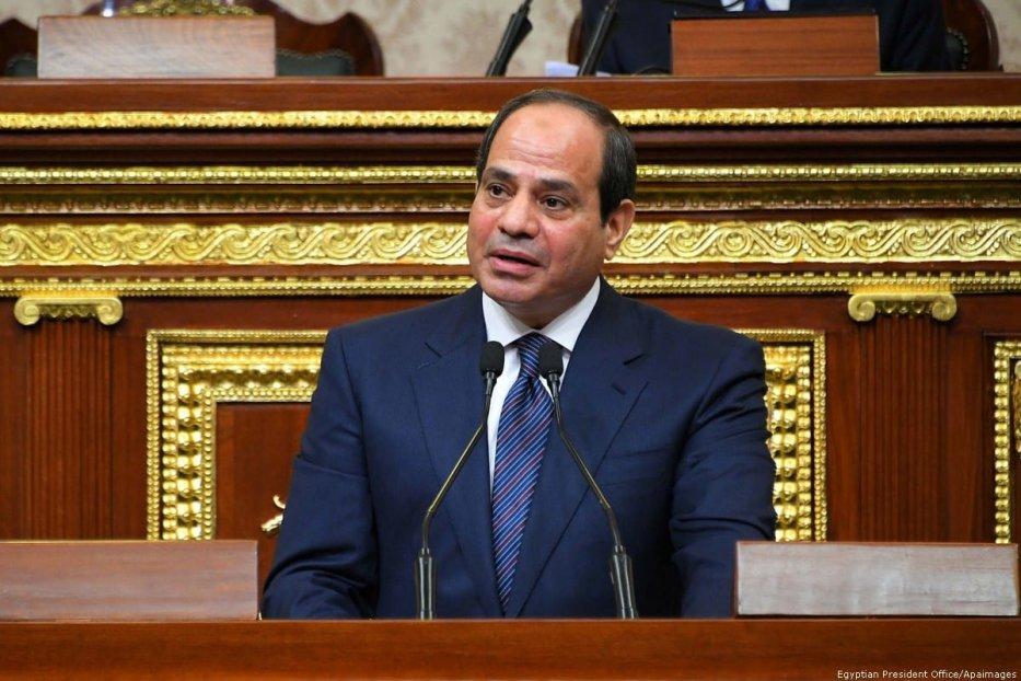 Egyptian President Abdel Fattah Al Sisi at the House of Representatives in Cairo, Egypt on 2 June 2018 [Egyptian President Office/Apaimages]