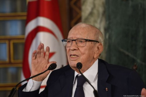 Tunisian President Beji Caid Essebsi gives a press conference in Tunis, Tunisia on November 8, 2018 [Fethi Belaid/AFP/Getty Images]