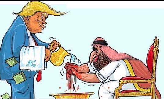 US President Donald Trump protects the Saudi Crown Prince, Mohammed bin Salman [Twitter]