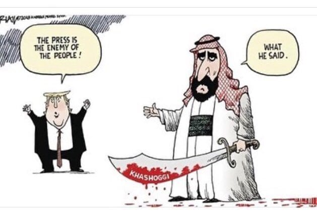Trump and MBS facing the Khashoggi case [Twitter]