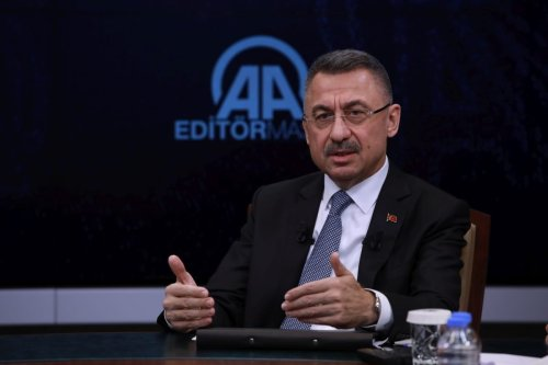 Turkish Vice President Fuat Oktay on November 05, 2018. [Binnur Ege Gürün - Anadolu Agency]