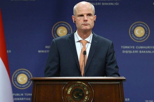 Dutch foreign minister Stef Blok attends a press conference following a meeting with his Turkish counterpart in Ankara on 3 October 2018. [ADEM ALTAN/AFP/Getty Images]