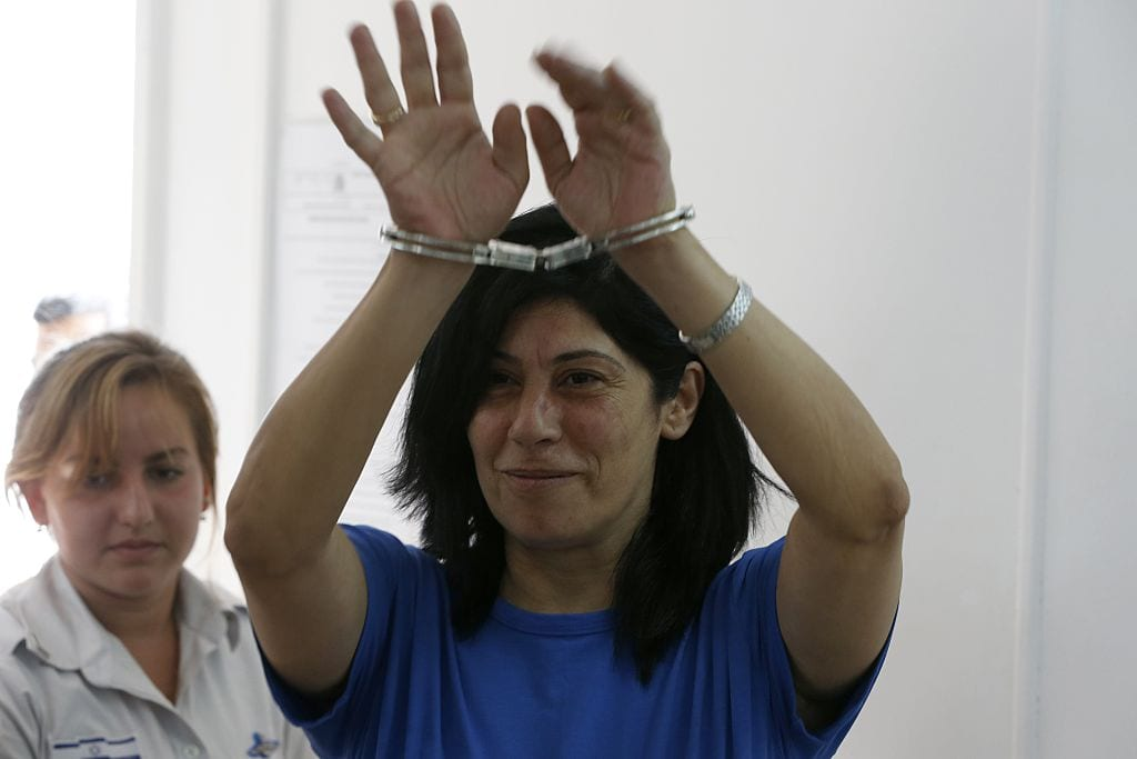 Khalida Jarrar, a member of the Popular Front for the Liberation of Palestine (PFLP) in Ramallah on 10 August, 2015 [Ahmad Gharabli/Getty Images]