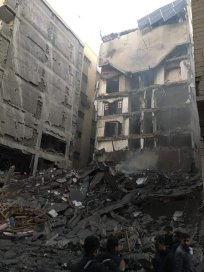 The damage left behind after Israel sent air strikes to Gaza on 12 November 2018