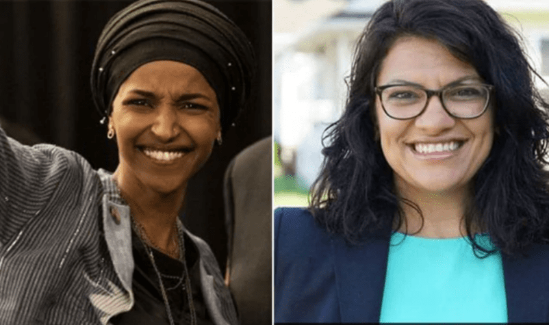 Rashida Tlaib (R) and Ilhan Omar (L) became the first Middle Eastern women to be elected to Congress during the US mid-terms on 6 November, 2018 [Facebook]