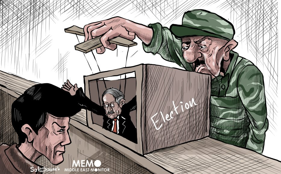 Who's really in charge in Algeria - Cartoon [Sabaaneh/MiddleEastMonitor]