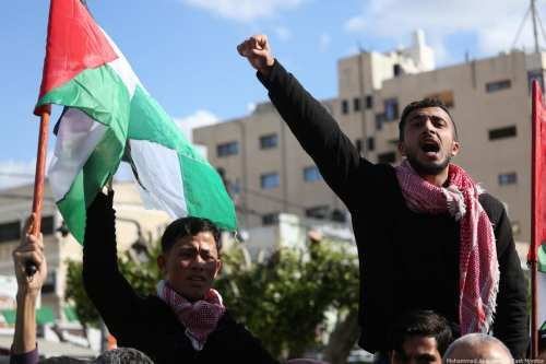 Palestinians in Gaza come out in support of those in the occupied West Bank after a number of Palestinians were killed there [Mohammed Asad/Middle East Monitor]