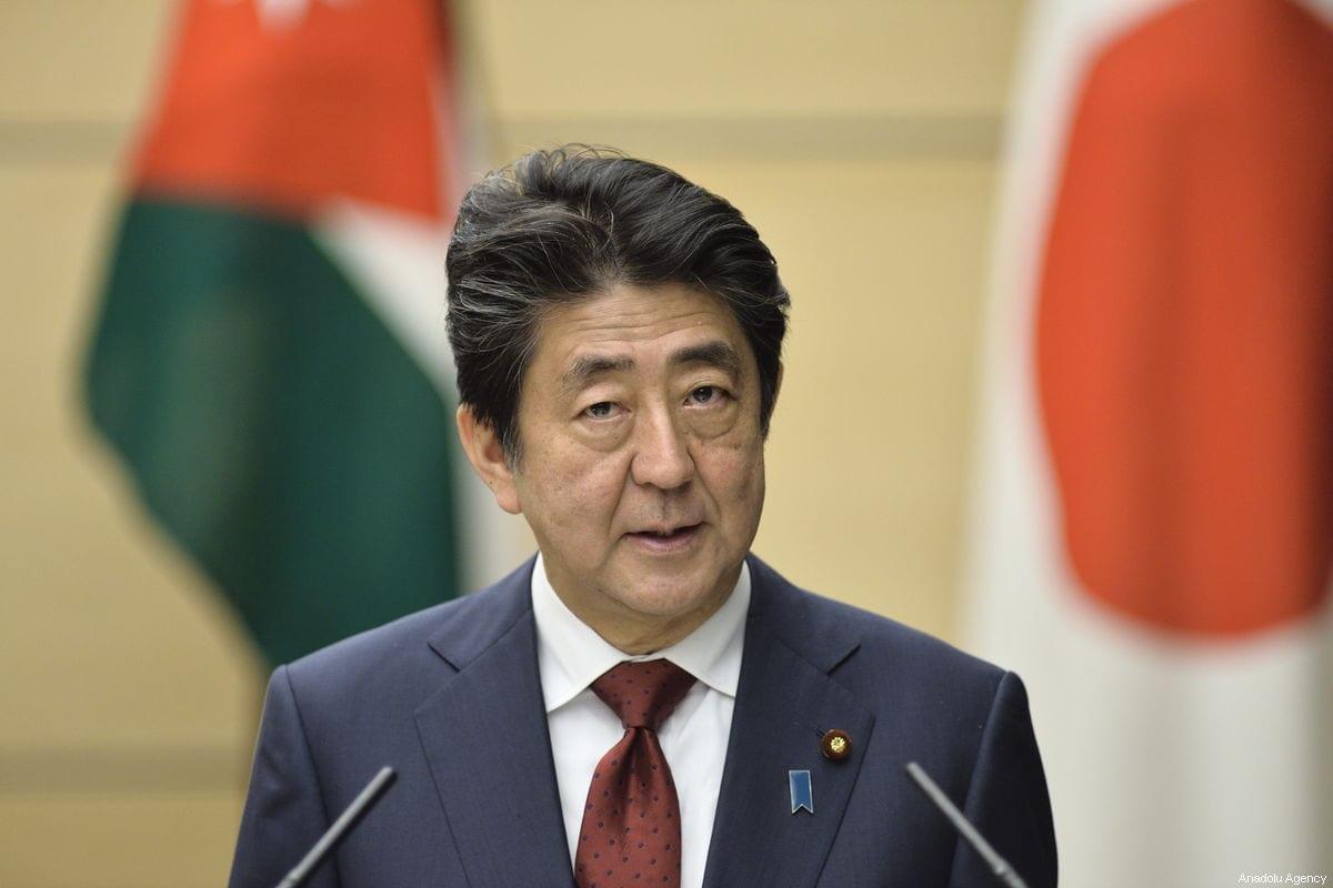Japan's Prime Minister Shinzo Abe in Tokyo on 27 November 2018 [David MAREUIL/Anadolu Agency]