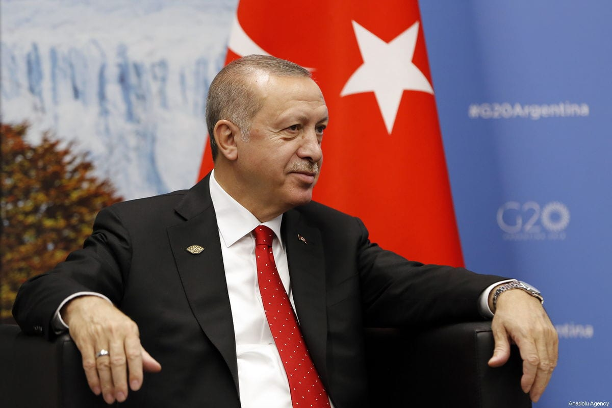 President of Turkey Recep Tayyip Erdogan on 1 December, 2018 [Murat Kaynak/Anadolu Agency]