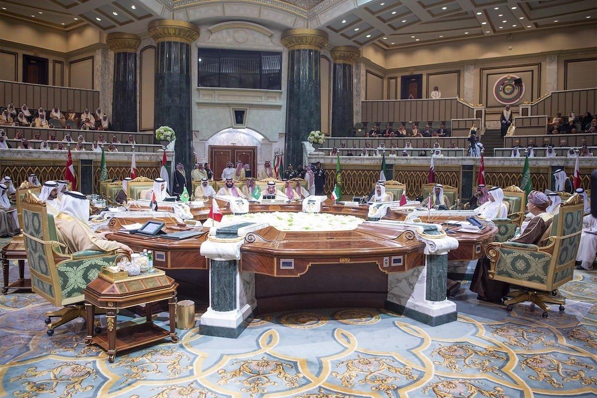"RIYADH, SAUDI ARABIA - DECEMBER 09: EDITORIAL USE ONLY – MANDATORY CREDIT - ""BANDAR ALGALOUD / SAUDI KINGDOM COUNCIL / HANDOUT"" - NO MARKETING NO ADVERTISING CAMPAIGNS - DISTRIBUTED AS A SERVICE TO CLIENTS----) King of Saudi Arabia, Salman bin Abdulaziz Al Saud makes a speech during the 39th Gulf Cooperation Council (GCC) Summit in Riyadh, Saudi Arabia on December 09, 2018. ( Bandar Algaloud / Saudi Kingdom Council / Handout - Anadolu Agency )"