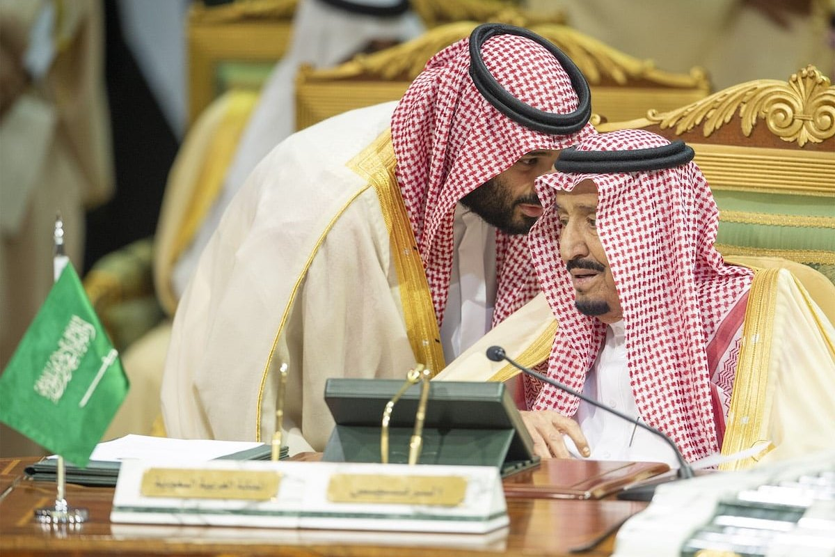 King of Saudi Arabia, Salman bin Abdulaziz Al Saud makes a speech during the 39th Gulf Cooperation Council (GCC) Summit in Riyadh, Saudi Arabia on 9. December 2018. [Bandar Algaloud / Saudi Kingdom Council / Handout - Anadolu Agency]