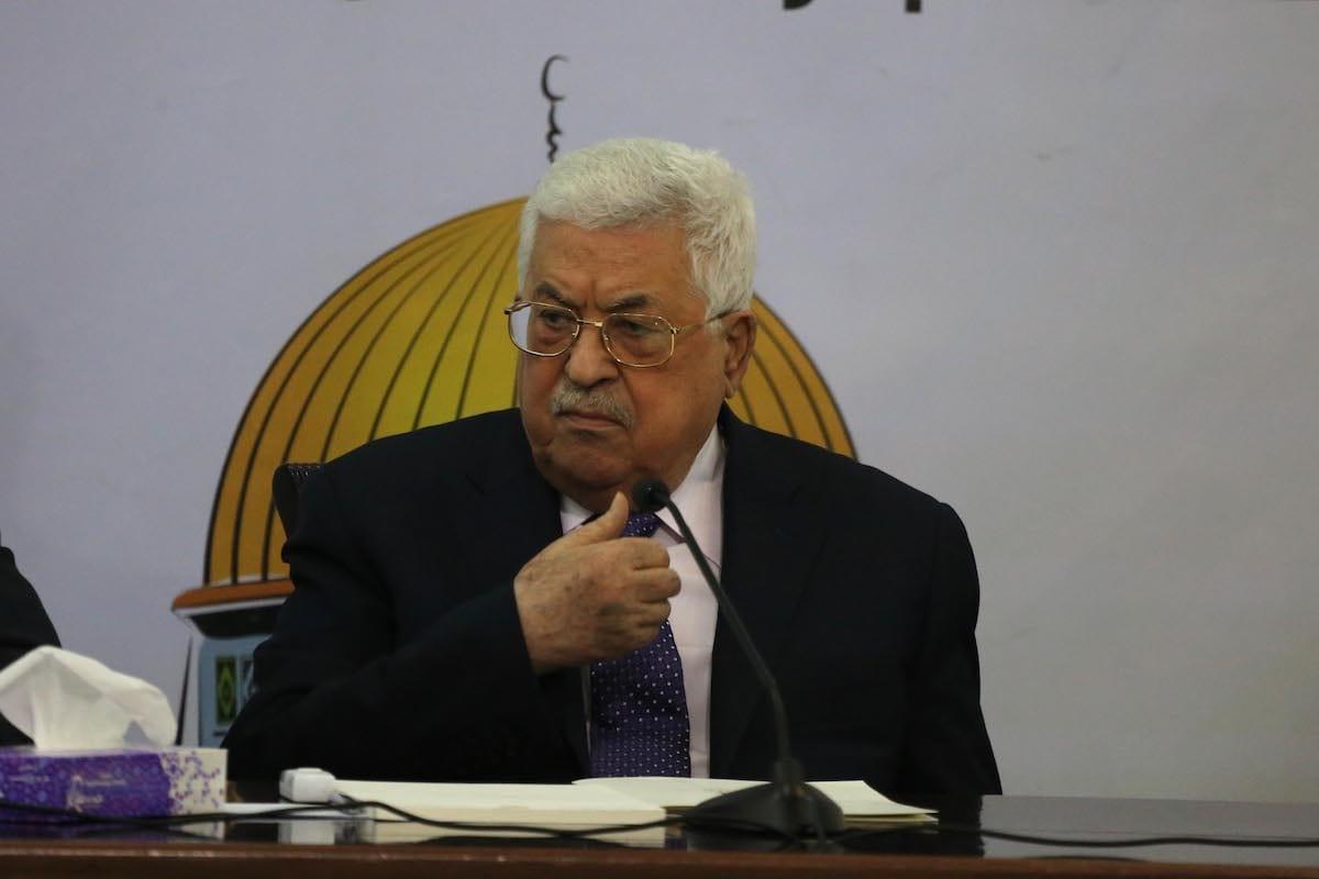 Palestinian President Mahmoud Abbas in Ramallah, West Bank on 9 December 2018 [Issam Rimawi/Anadolu Agency]