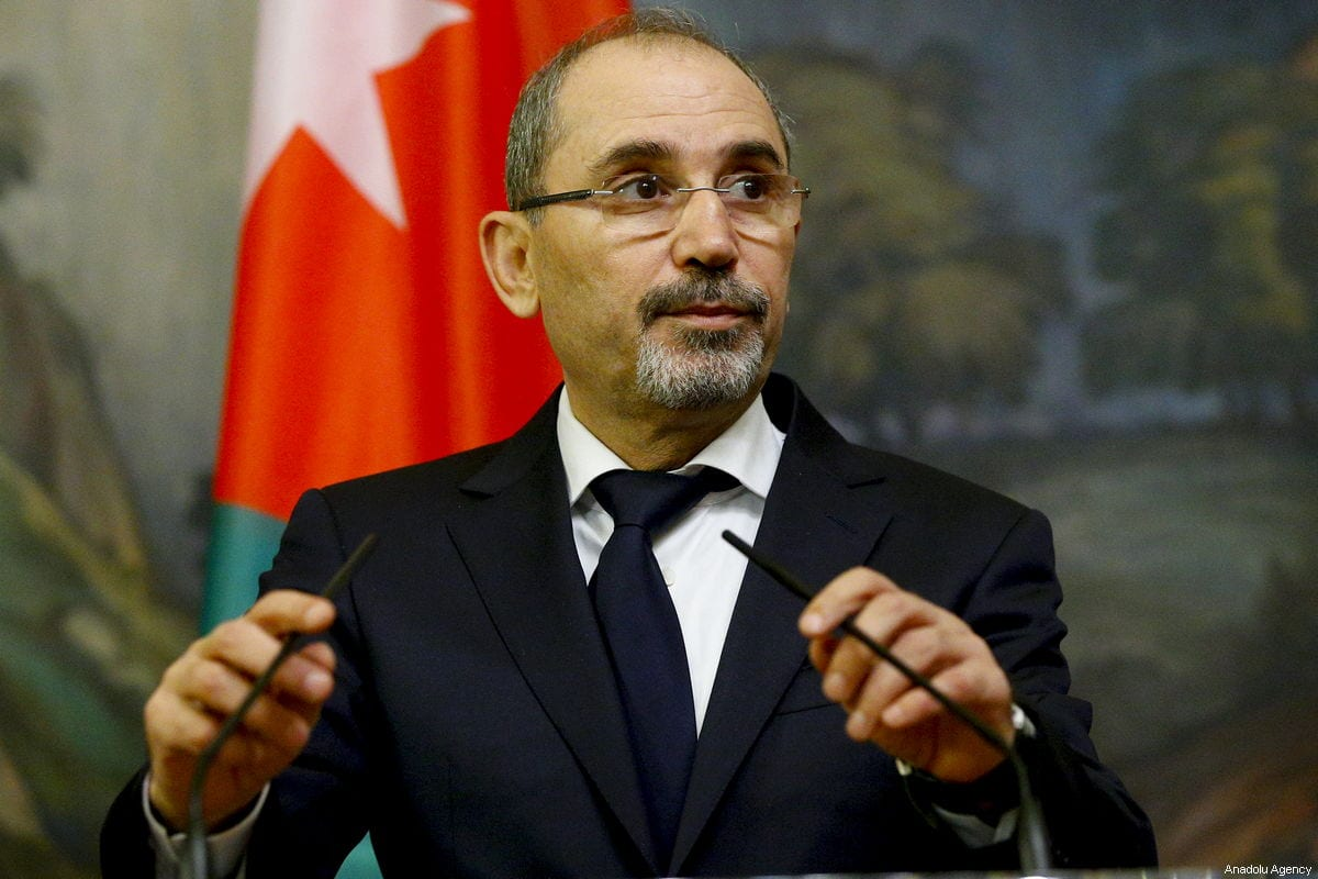 Jordanian Foreign Minister Ayman Safadi in Moscow, Russia on 28 December 2018 [Sefa Karacan/Anadolu Agency]
