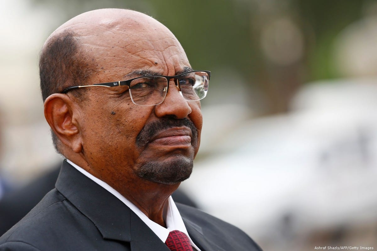 Sudan's President Omar Al-Bashir at the Khartoum International Airport on 25 October 2018 [Ashraf Shazly/AFP/Getty Images]