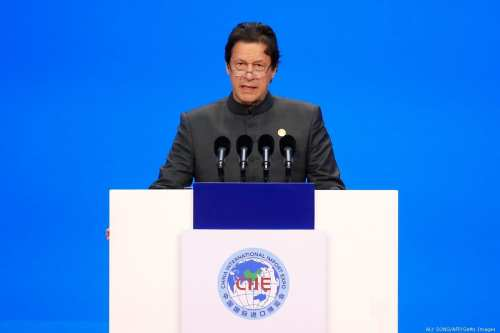 Pakistan's Prime Minister Imran Khan on 5 November 2018 [ALY SONG/AFP/Getty Images]