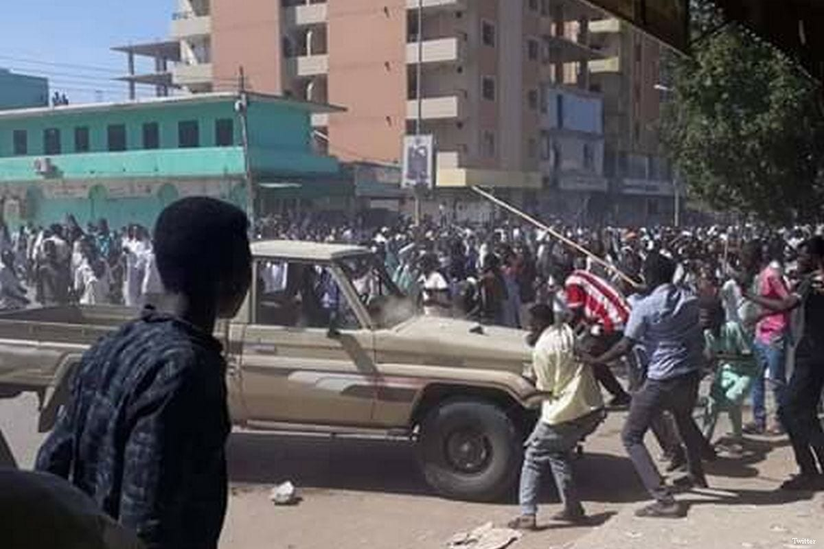 Dozens of Sudanese were wounded during protests over price hikes in Khartoum, Sudan on 20 December 2018
