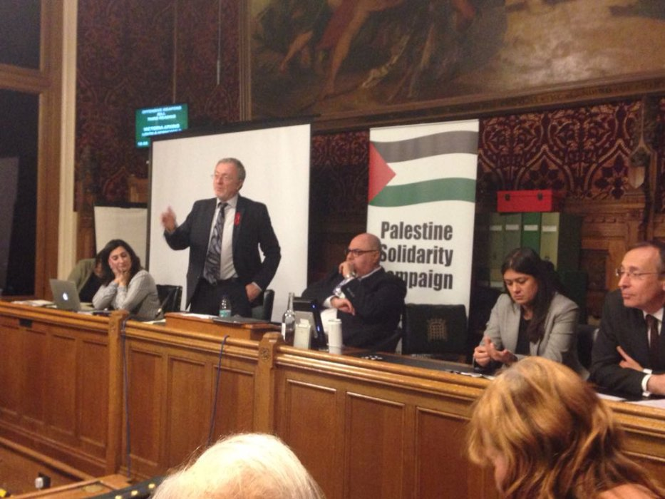 The Palestine Solidarity Campaign hosts an event in UK Parliament on 29 November 2018 to mark the International Day of Solidarity with the Palestinian people