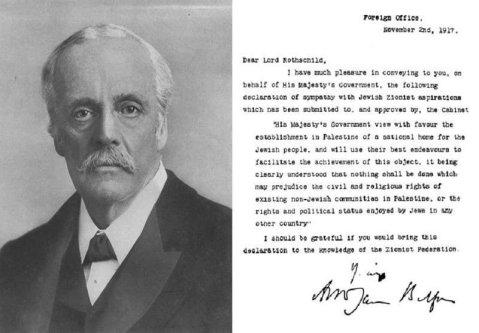 Balfour Declaration - [Twitter]