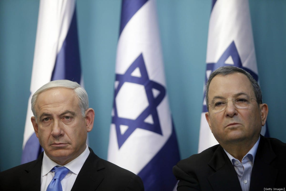 Prime Minister Benjamin Netanyahu and Defence Minister Ehud Barak look on during a press conference on November 21, 2012 in Jerusalem, Israel. (Photo by Lior Mizrahi/Getty Images)