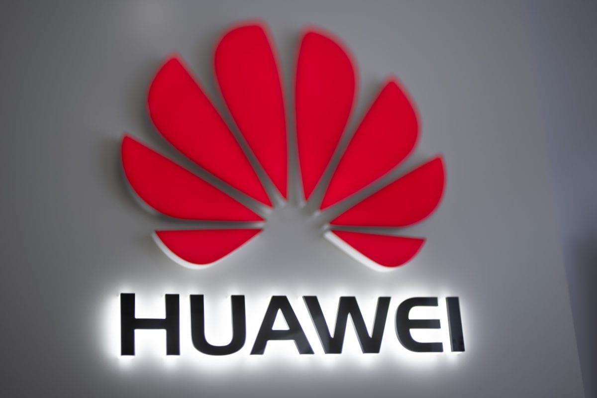 The Huawei logo is displayed at a store in Beijing on December 6, 2018 [FRED DUFOUR/AFP/Getty Images]