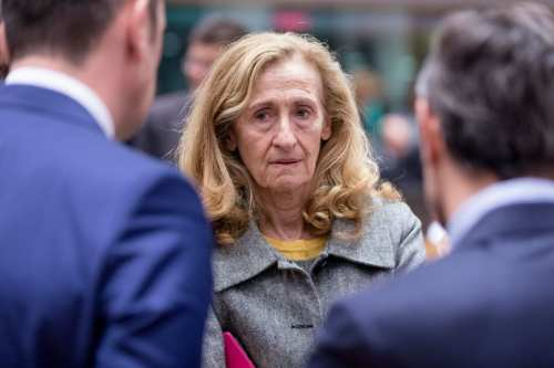 French Minister of Justice Nicole Belloubet in Brussels on 7 December 2018 [Thierry Monasse/Getty Images]