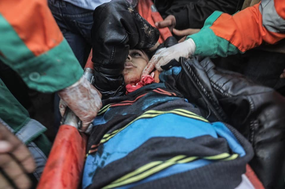 Israeli forces shoot dead 16-year-old Mohamed Mouinal-Jahjouh in Gaza, on 21 December 2018. (Ali Gadallah - Quds Network)