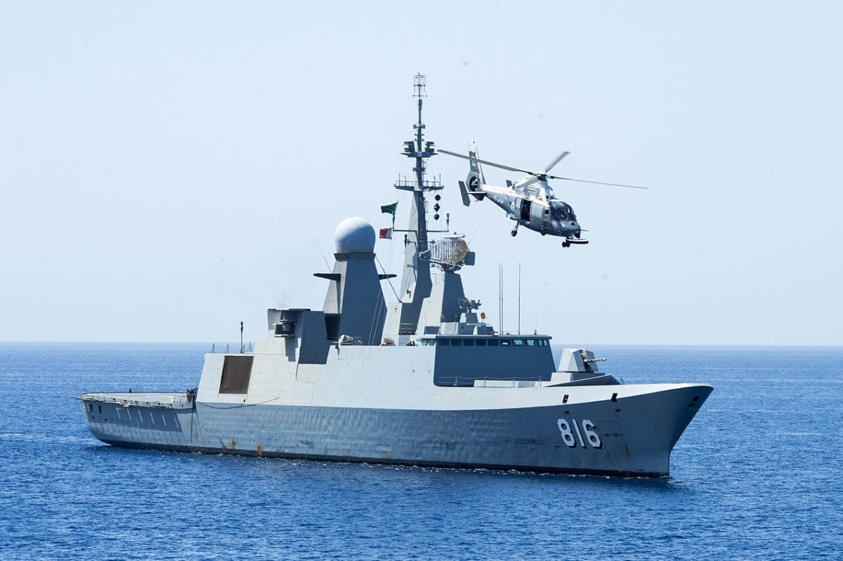 The Al-Dammam frigate of the Royal Saudi Navy, seen in the Gulf of Aden on 24 May 2014 [US Navy / Public Domain]