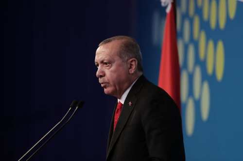 President of Turkey Recep Tayyip Erdogan on 1 December 2018 [ALEJANDRO PAGNI/AFP/Getty Images]