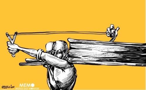 The First Intifada - Cartoon [Sabaaneh/MiddleEastMonitor]