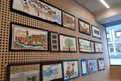Palestinian History Tapestry Project in Oxford, UK on 4 December 2018 [Kaja