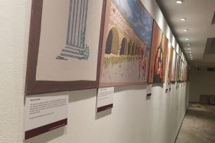 Palestinian History Tapestry Project in London, UK on 11 December 2018
