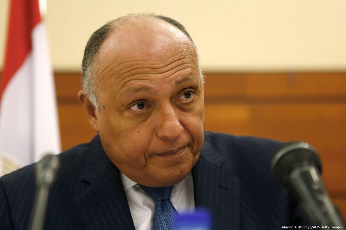 Egypt's Foreign Minister Sameh Shoukri on 24 October 2018 [ASHRAF SHAZLY/AFP/Getty Images]