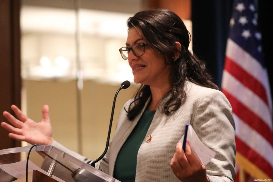 Congresswoman Rashida Tlaib delivers a speech at the event that was held by Council on American-Islamic Relations (CAIR) in Washington DC, United States on 10 January, 2019 [Safvan Allahverdi/Anadolu Agency]