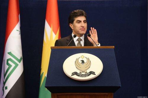 Prime Minister of Iraqi Kurdish Regional Government (KRG) Nechirvan Barzani in Erbil, Iraq on 27 January 2019 [Hemn Baban/Anadolu Agency]