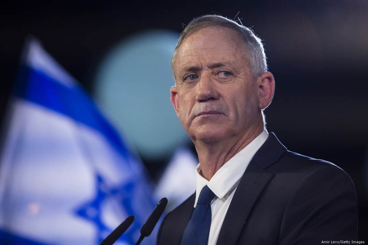 Benny Gantz, former Israeli military chief of staff Benny Gantz in Tel Aviv on 29 January 2019 [Amir Levy/Getty Images]