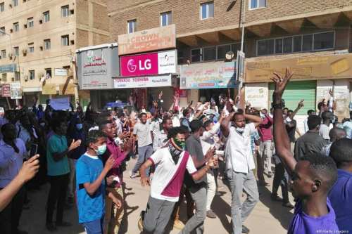 Sudanese protesters attend an anti-government demonstration in the capital Khartoum on 6 January, 2018 [/AFP/Getty Images]