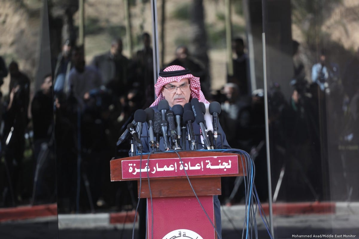 Chairman of the National Committee for the Reconstruction of Gaza, Ambassador Mohammed Al-Emadi in Gaza on 25 January 2019 [Mohammed Asad/Middle East Monitor]
