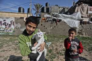 Gazans celebrate Christmas and the New Year on 1 January 2018 [Mohammed Asad/Middle East Monitor]