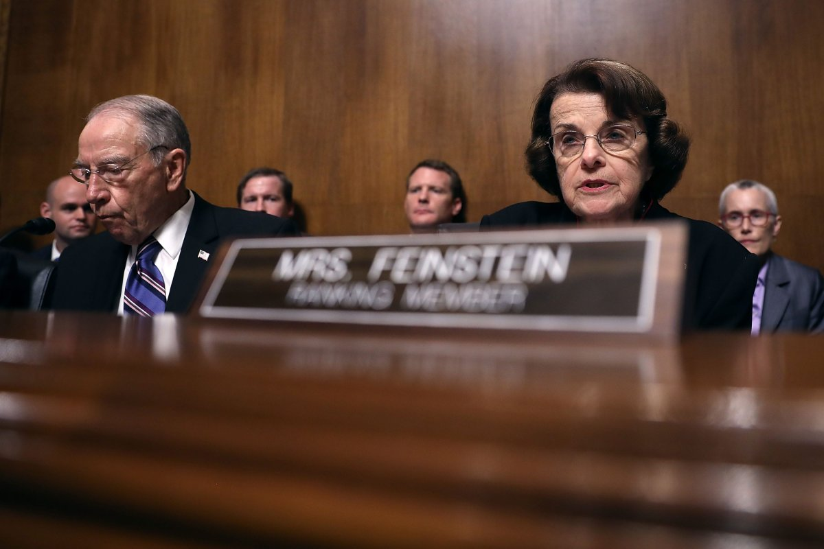 Senate Judiciary Committee ranking members Sen. Dianne Feinstein (D-CA) (R) [Win McNamee/Getty Images]
