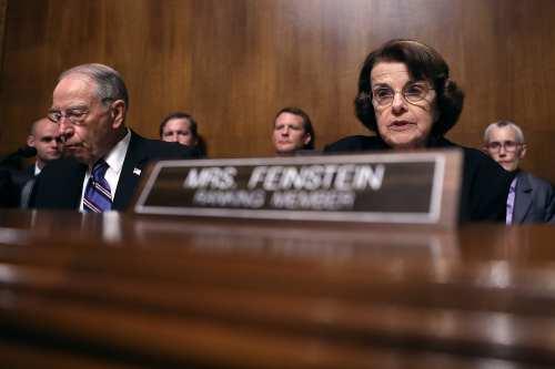 Senate Judiciary Committee ranking members Sen. Dianne Feinstein (D-CA) (R) [Win McNamee/Getty Images]