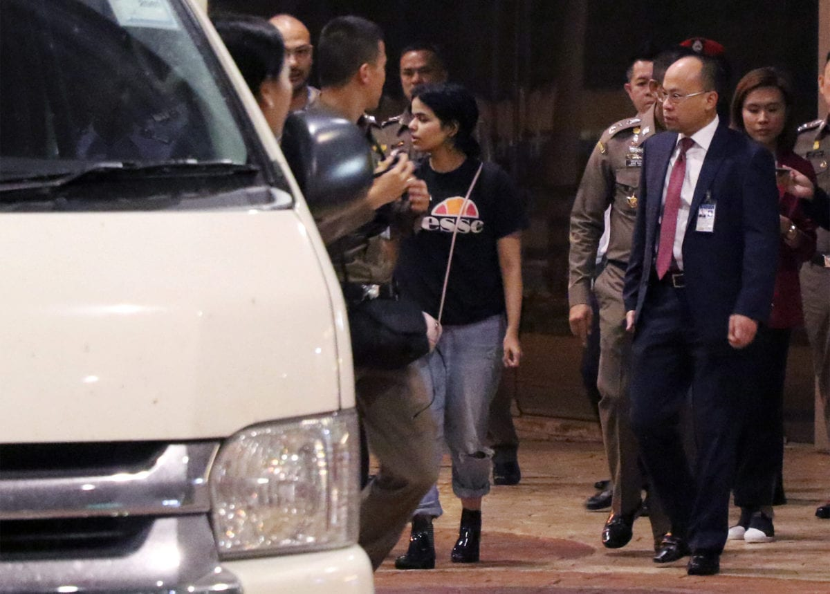 Thai police say they won't deport Saudi woman barricaded in hotel room