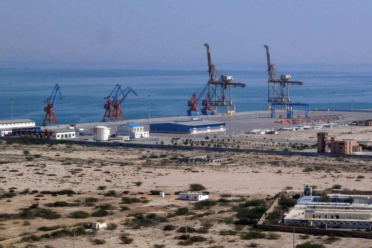 A general view of Pakistan's Gwadar port in the Arabian Sea, seen during a contruction project on February 12, 2013 [BEHRAM BALOCH/AFP/Getty Images]